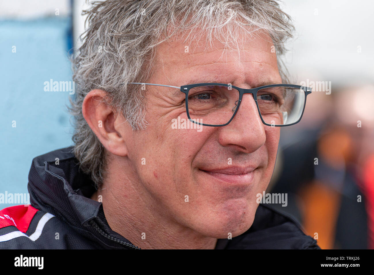 Jason Plato BTCC Racing Driver at Thruxton During the Kwikfit British Touring Car Championship Weekend of May 18th and 19th 2019 - Stock Image