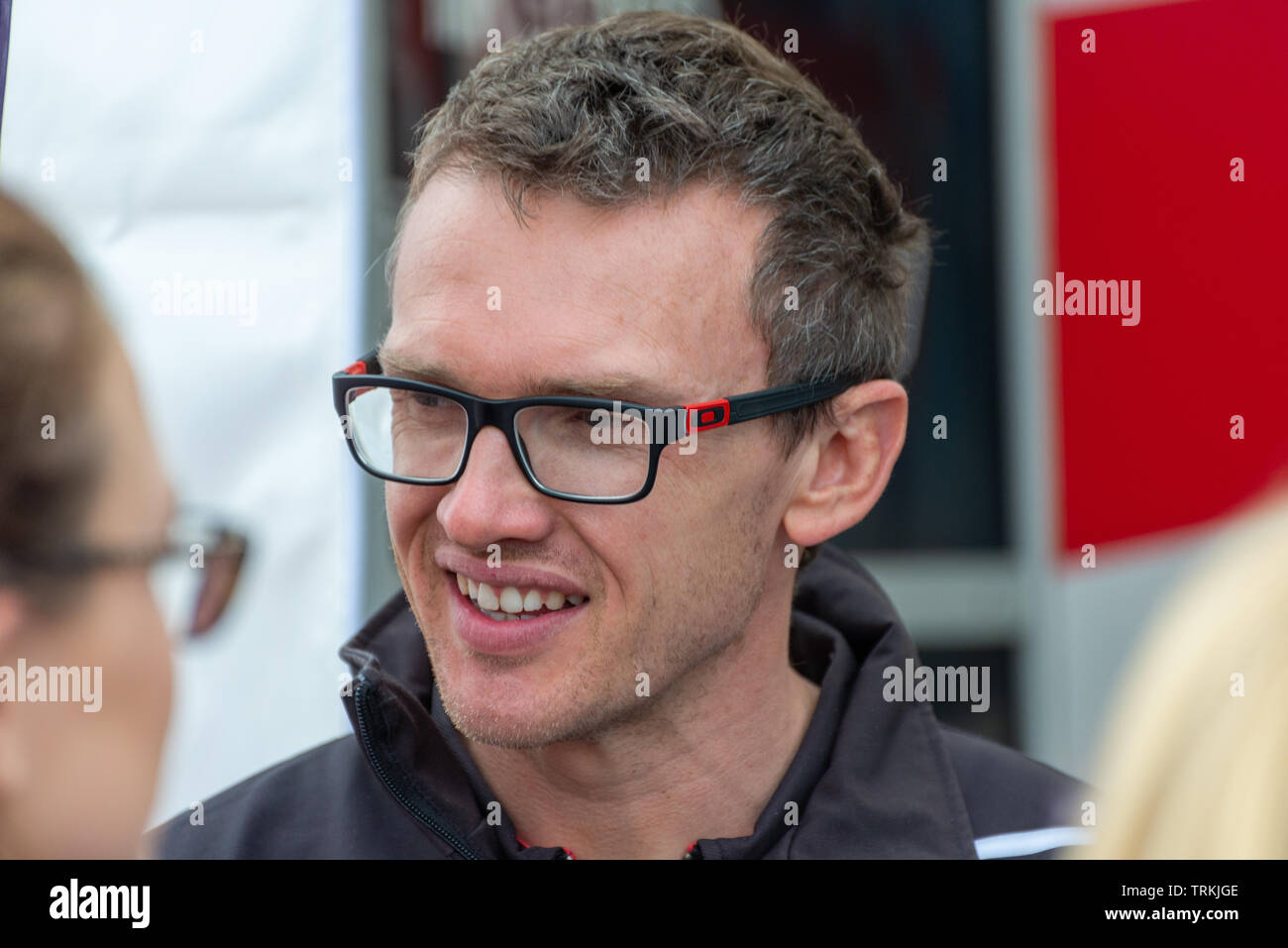Matt Simpson BTCC Racing Driver at Thruxton During the Kwikfit British Touring Car Championship Weekend of May 18th and 19th 2019 - Stock Image