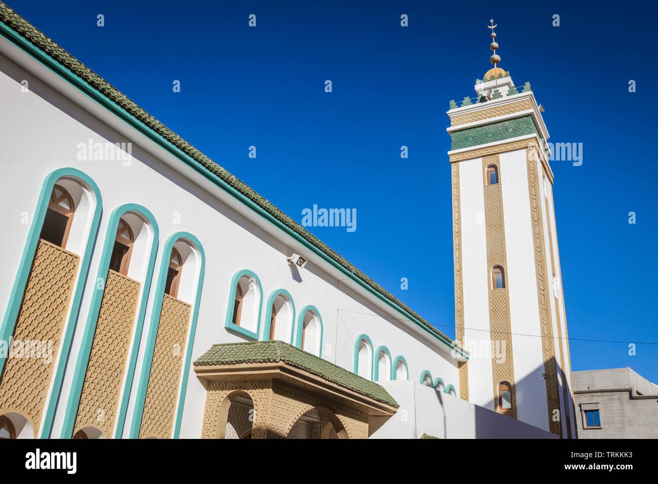 Mosque in Dakhla. Dakhla, Western Sahara, Morocco. - Stock Image
