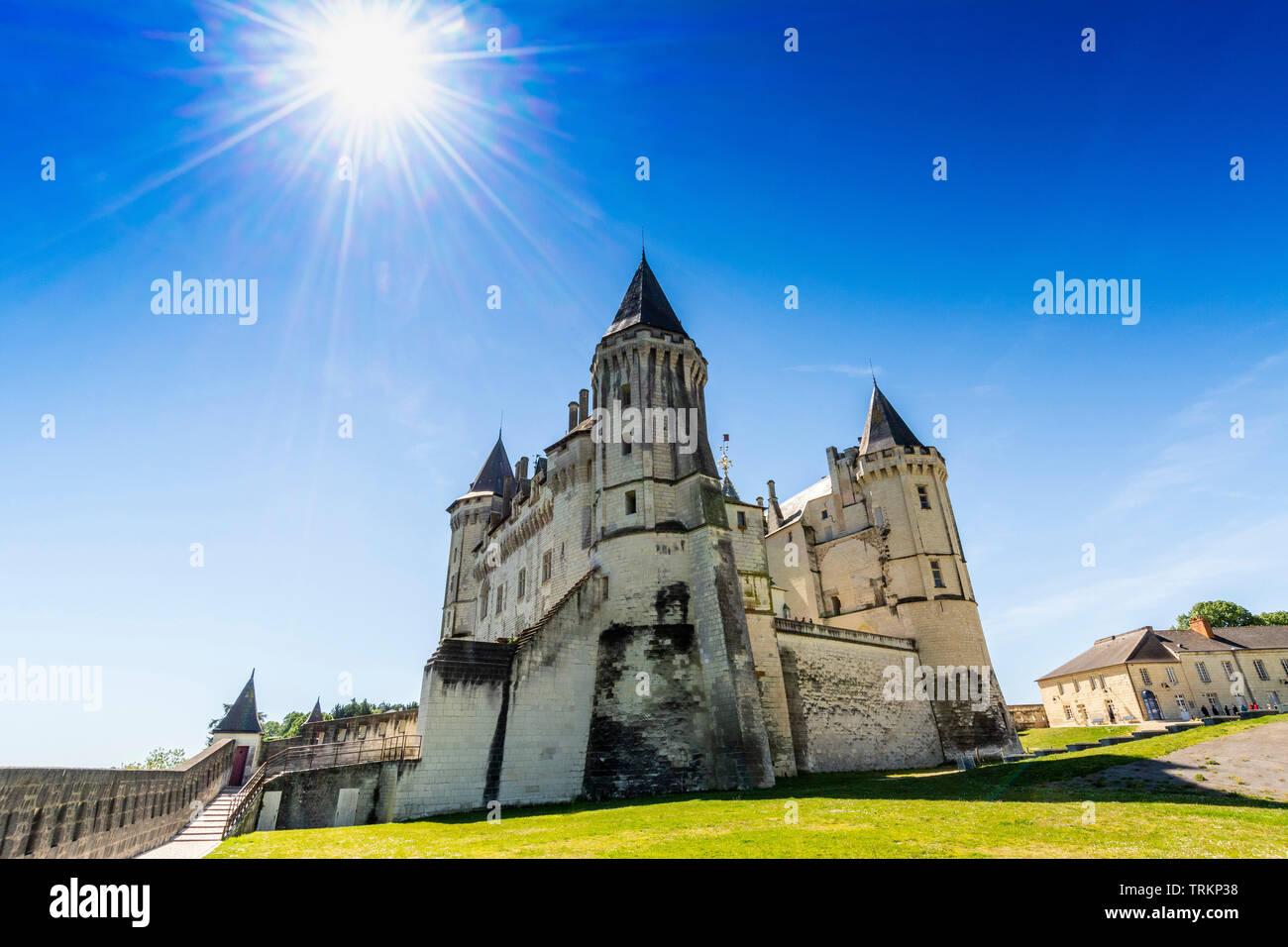 Château de Saumur, Pays de la Loire, Maine et Loire, France Stock Photo