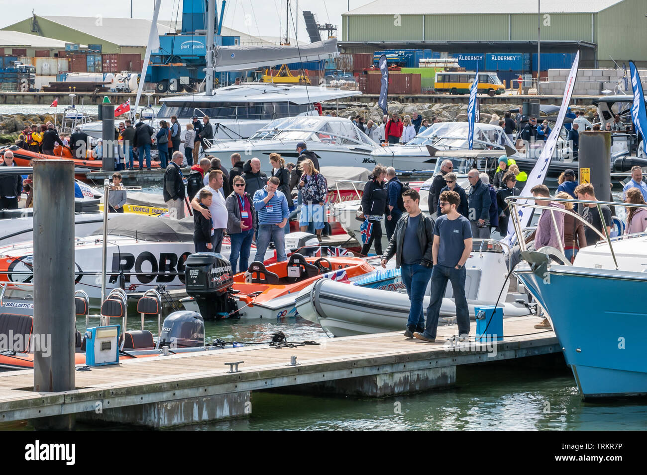 Poole Dorset Uk 8th June 2019 Potential Buyers Look At