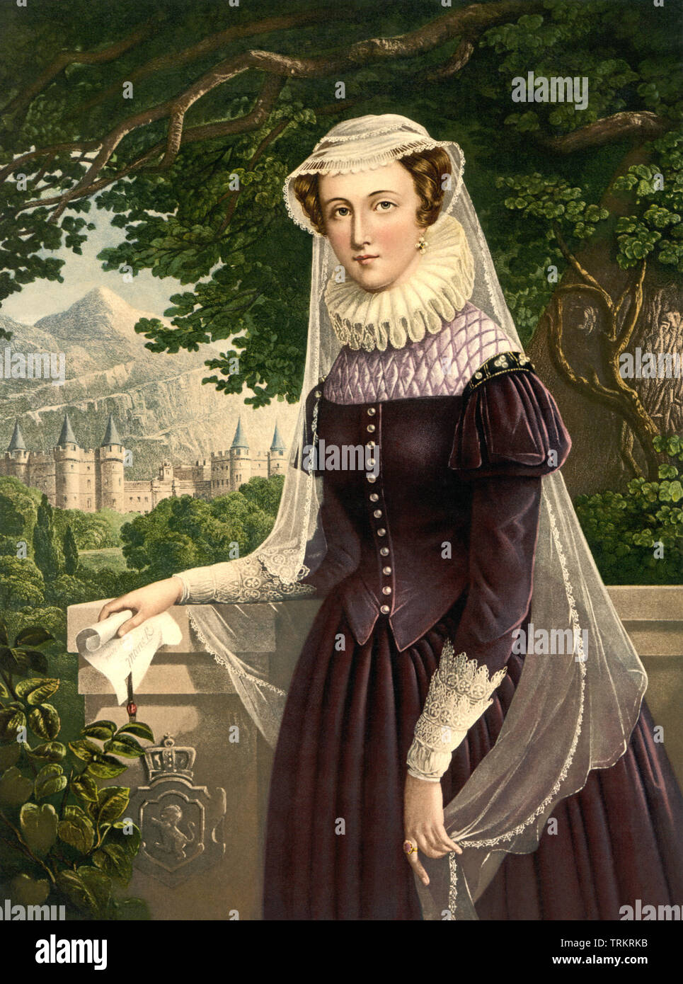 Mary, Queen of Scots (1542–1587), originally Mary Stuart (or Mary Stewart), was also known as Mary I of Scotland. Stock Photo