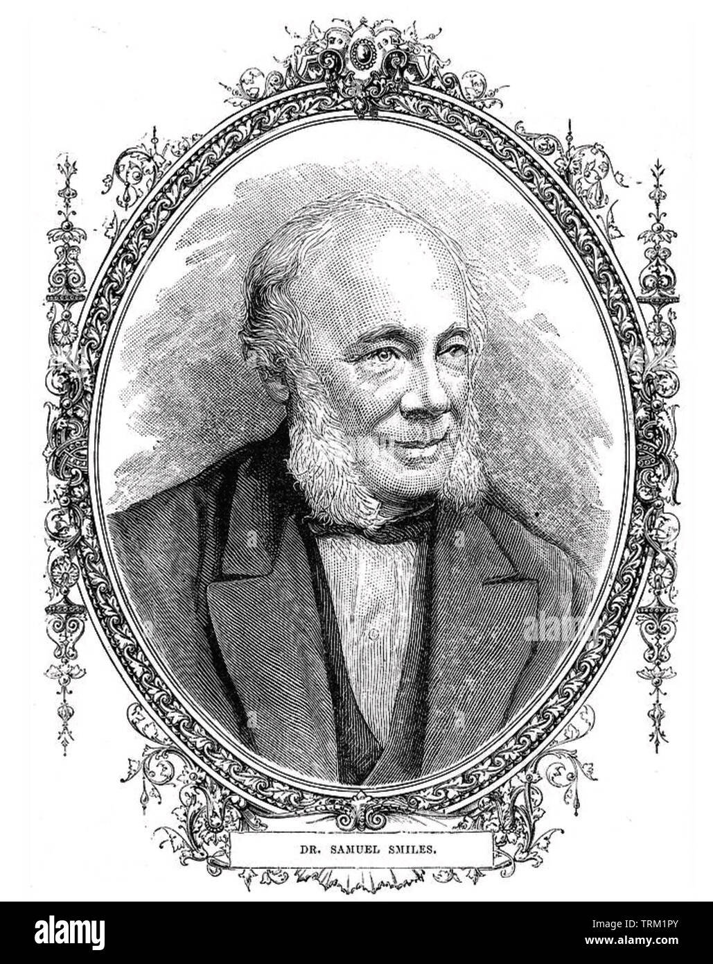 SAMUEL SMILES (1812-1904) Scottish author and government reformer and author of Self-Help (1859) - Stock Image
