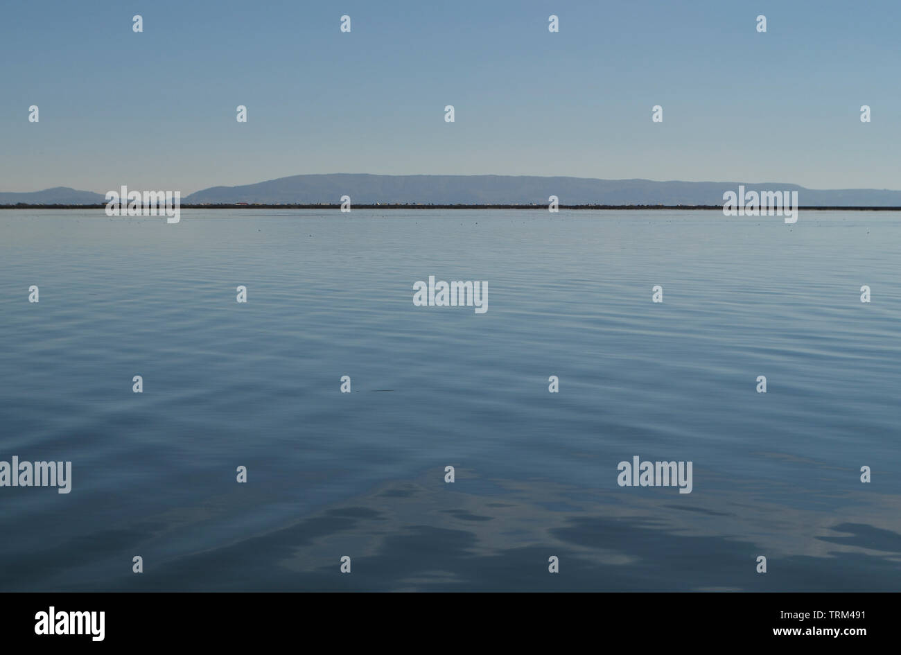 Peru,Puno,Titicaca. View of Titicaca Lake. - Stock Image