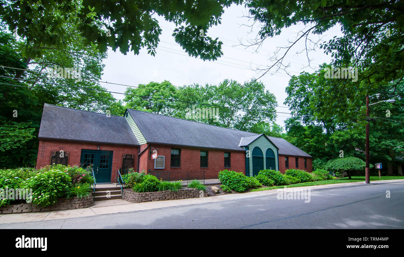 The Sarah Jackson Black Community Center in the Swisshelm Park neighborhood of Pittsburgh, Pennsylvania, USA Stock Photo