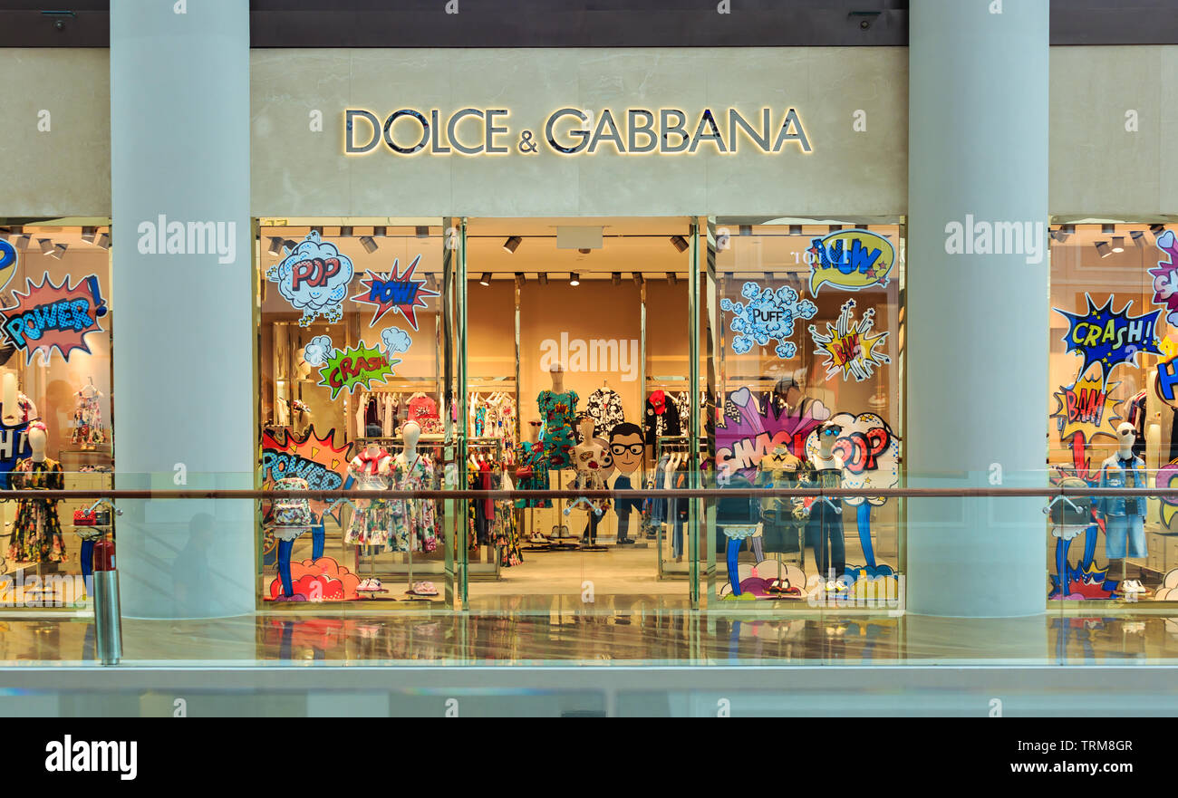 Singapore-02 APR 2019:Dolce & Gabbana shop's exterior in shopping mall - Stock Image