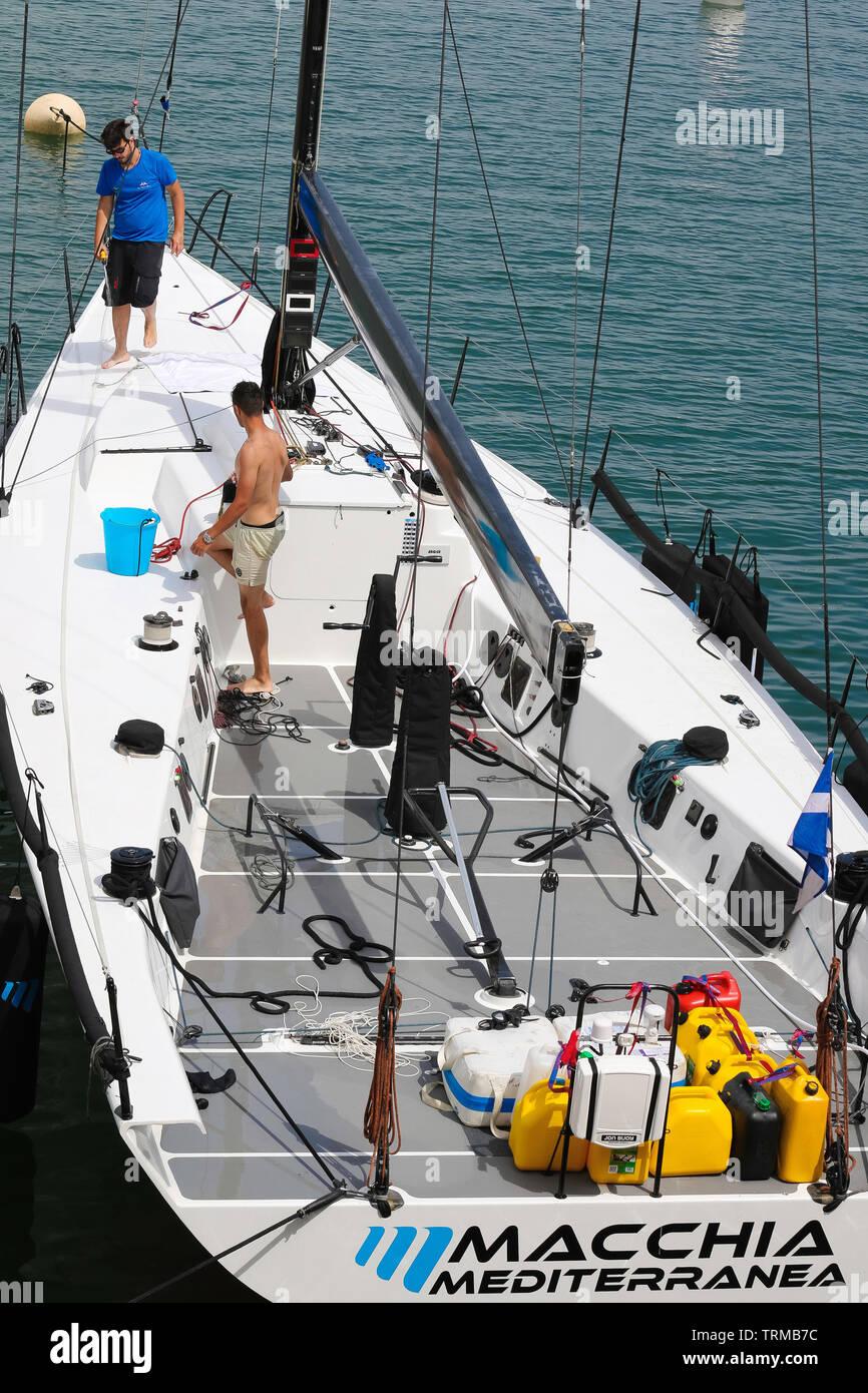 Port de Saint Tropez, France  - Giraglia - ROLEX SAILING - June 09 2019 a.m. 11,30 - MACCHIA MEDITERRANEA - Strathisla Vallet - Credit ph Ilona Barna - Stock Image