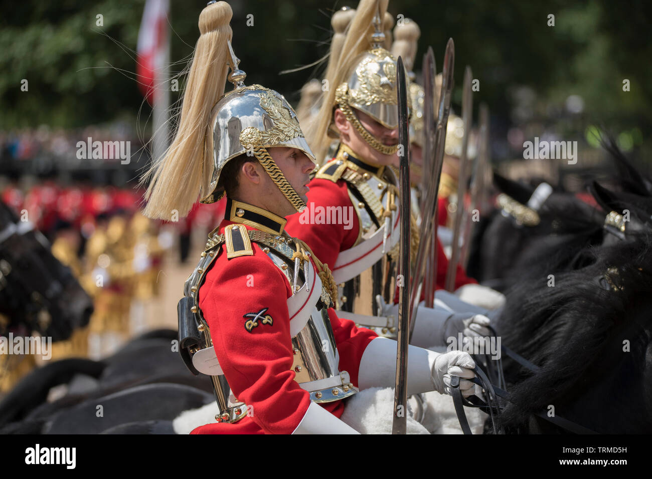 Horse Guards Parade. 8th June 2019. Trooping the Colour, the Queen's Birthday Parade, London, UK. Credit: Malcolm Park/Alamy Stock Photo