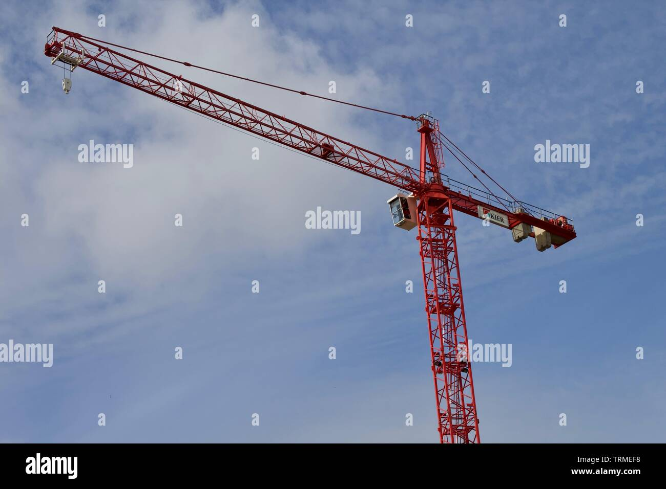 Stationary Tower Cranes in Bristol, Photo taken in Bristol. - Stock Image