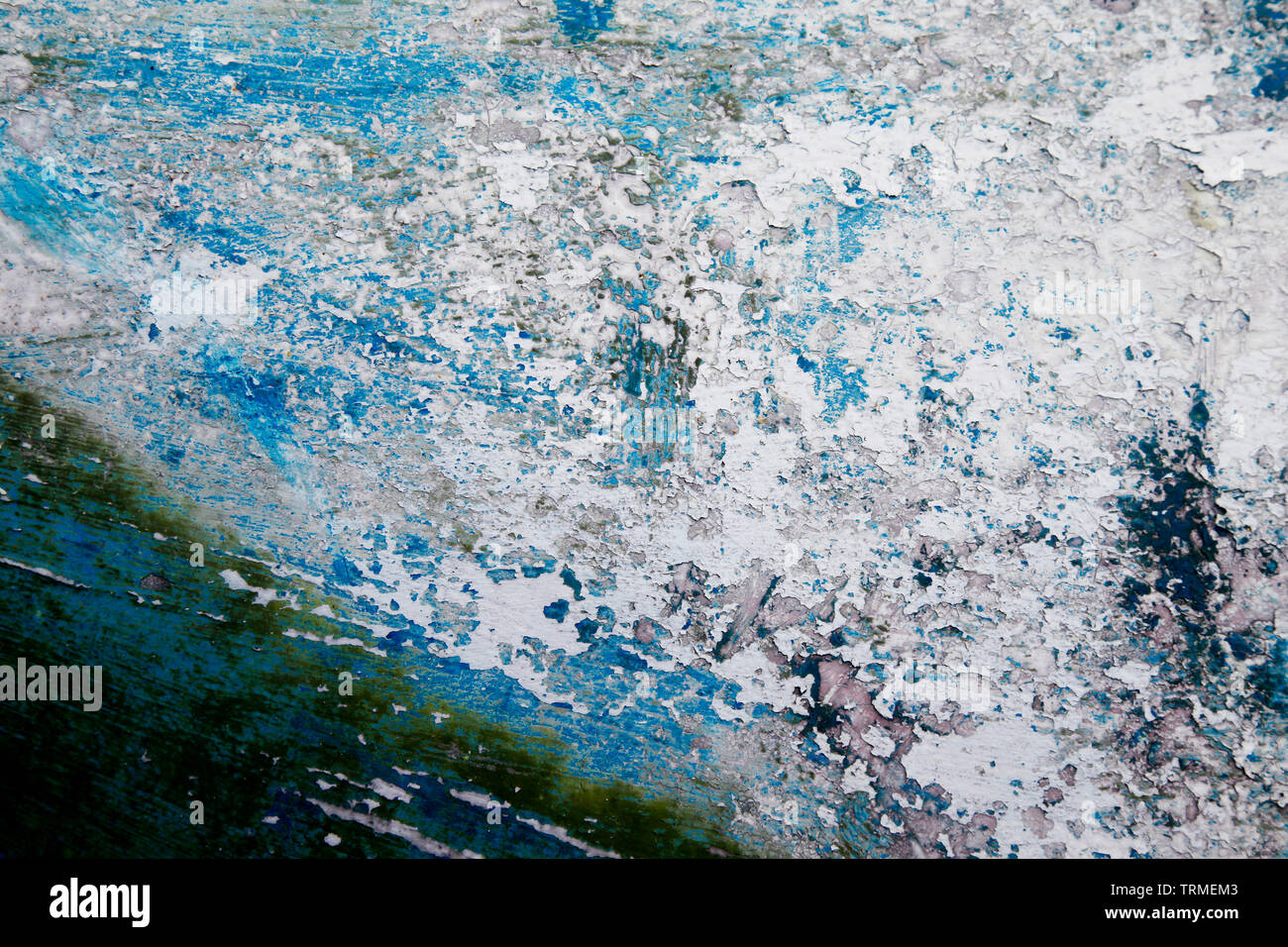 Boat Hull, Keel, Abstract, Paint, Weathered, Scratched, Coast, Vessel, Dirt, Beach, Southend, Essex © Clarissa Debenham / Alamy - Stock Image