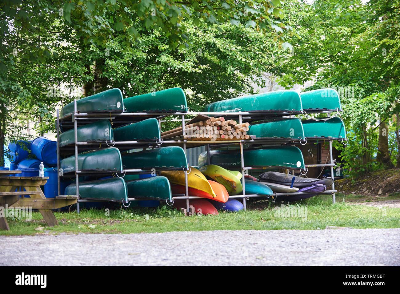 Canoe Rack Stock Photos & Canoe Rack Stock Images - Alamy