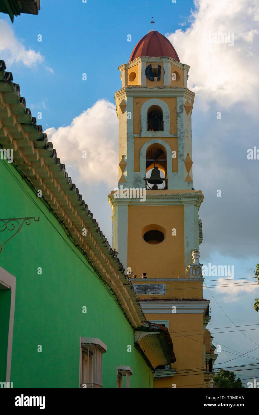Trinidad, Cuba,with Bell tower of the Iglesia de San Francisco Stock Photo