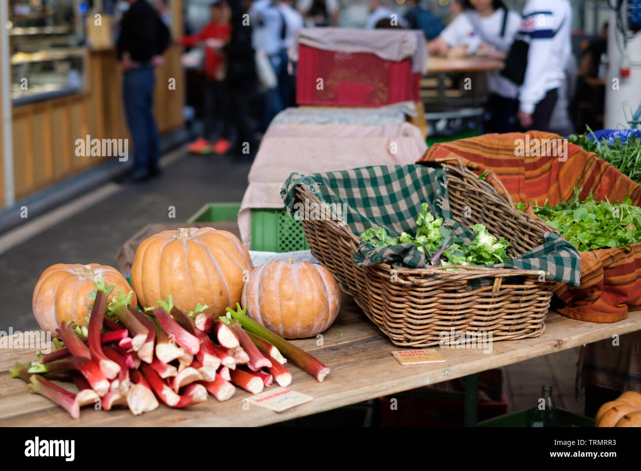 Markthalle Neun (Market hall nine) - indoor market dating from 1891, located in the Kreuzberg area of Berlin, Germany - Stock Image