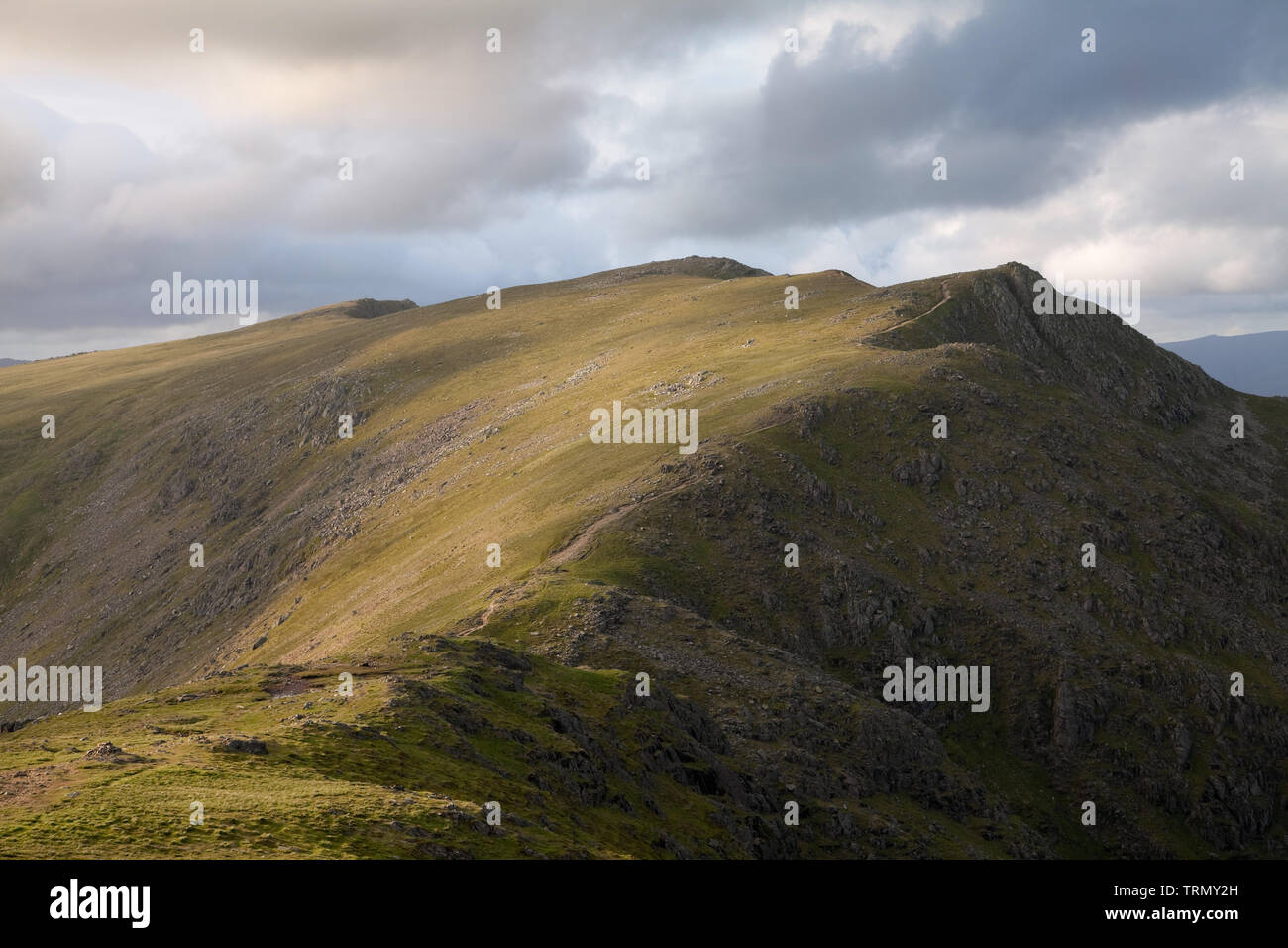 Swirl How seen from Levers Hause, in the English Lake District, UK - Stock Image