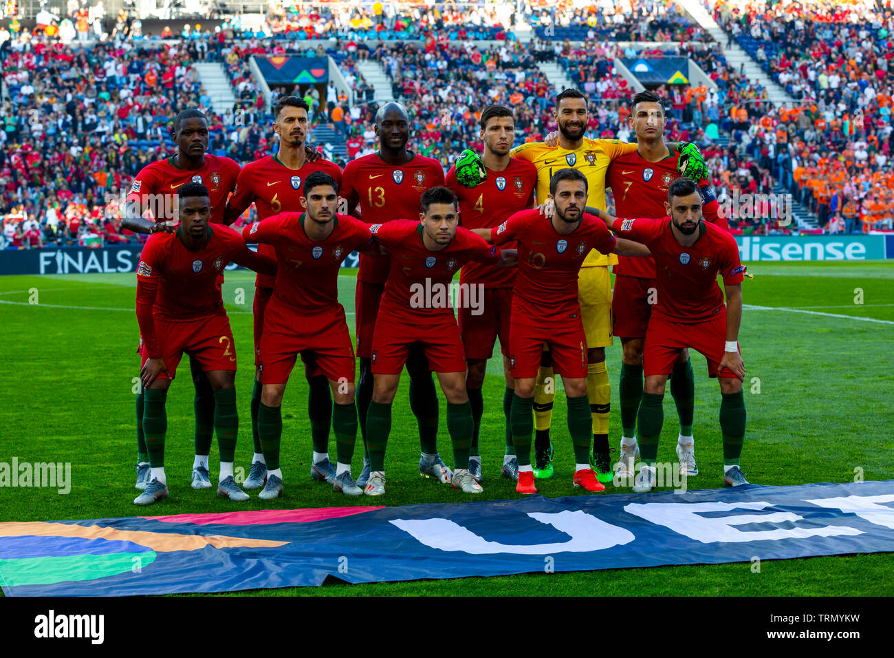 Portugal Line Up Before The Match For The Uefa Nations League Final At Dragon Stadium On 9 June 2019 In Porto Portugal Final Score Portugal 1 0 Netherland Credit Diogo Baptista Sopa Stock Photo Alamy