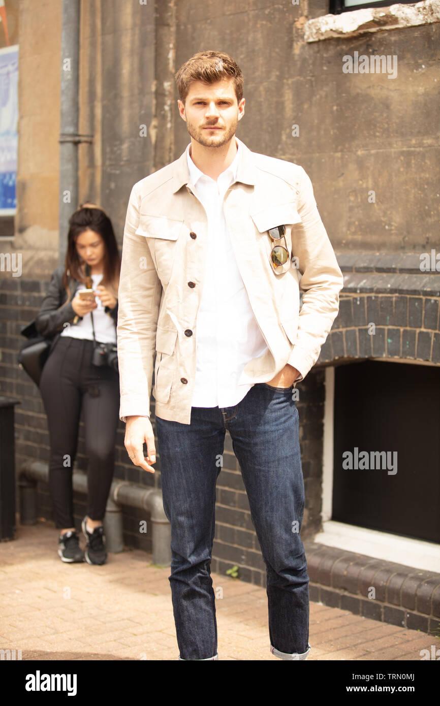 London Uk 9th June 2019 Street Style Fashion Design During London Fashion Week Men S Along Hanbury