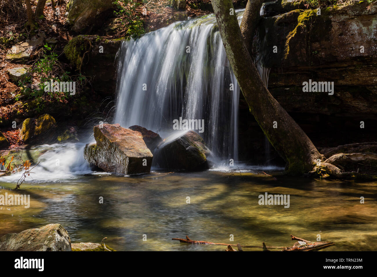 Laurel Falls in Little River Canyon National Preserve, Alabama Stock Photo