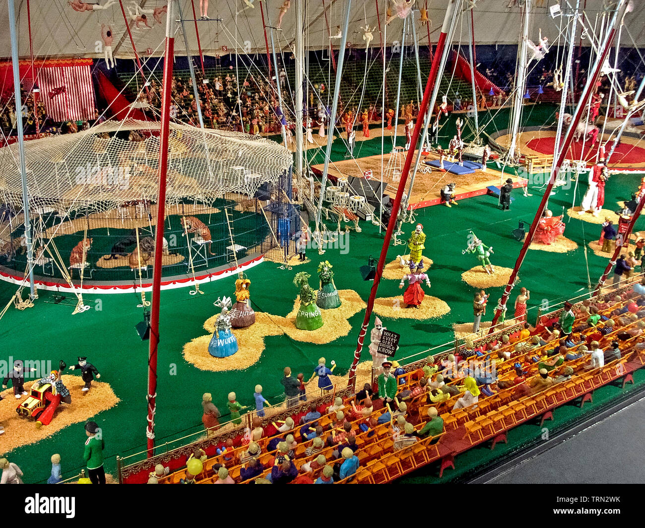 Thousands Of Wooden Pieces Were Hand Carved And Painted To Create The Howard Bros Circus A Miniature Replica Of The Famous Ringling Bros And Barnum Bailey Circus That Can Be Seen