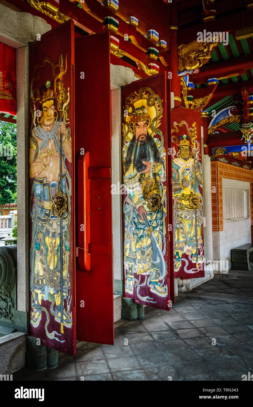 Singapore - Dec 18, 2018: Famous Lian Shan Shuang Lin Temple in Toa Payoh was gazetted as a national monument on 14 October 1980, with major restorati - Stock Image