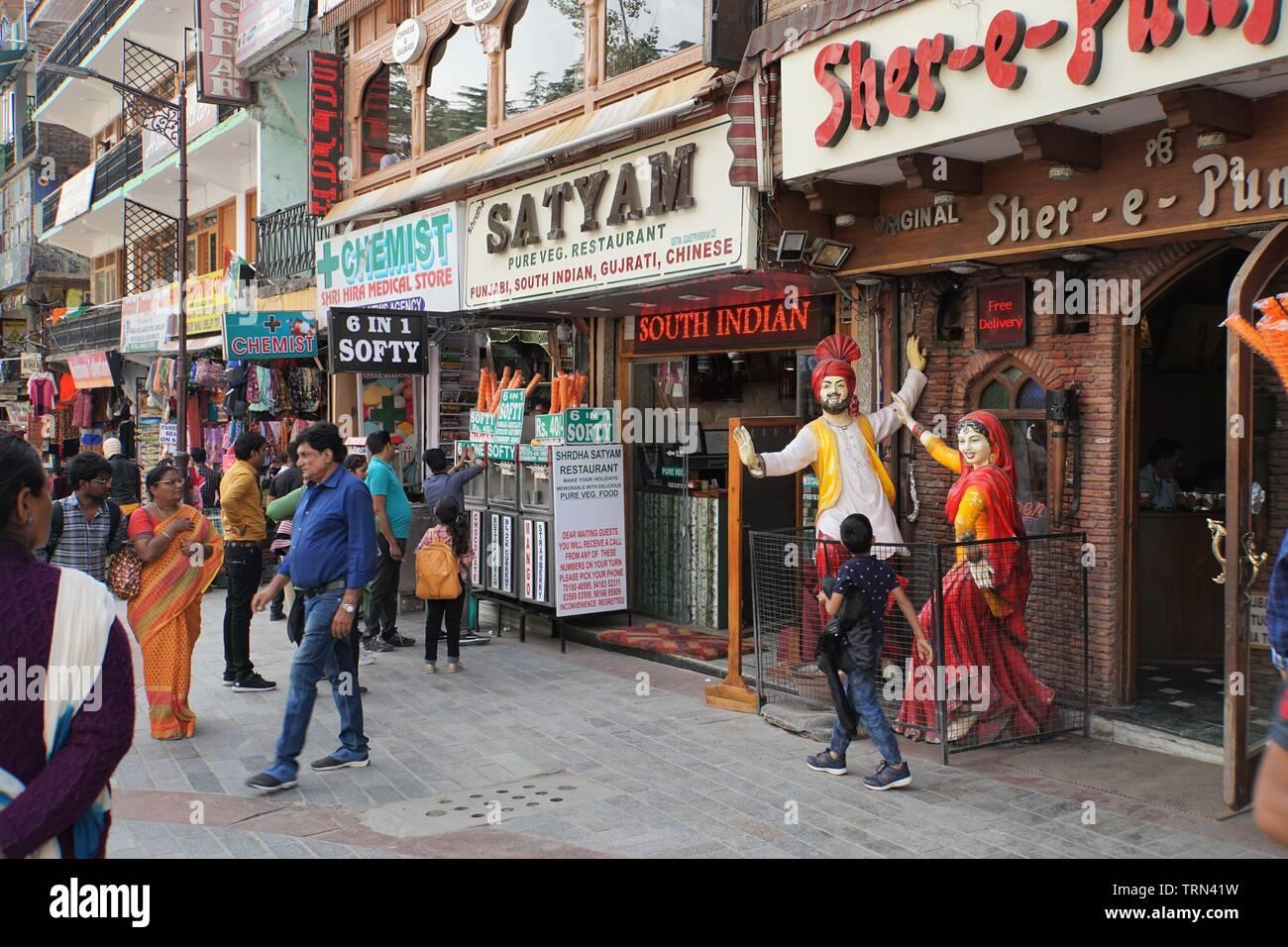 Snapshot of Manali Mall Road - Stock Image