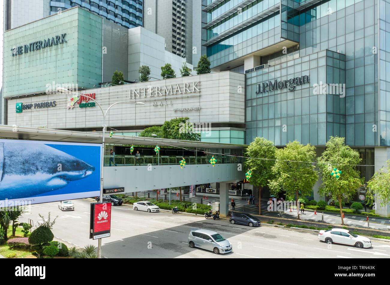 Kuala Lumpur,Malaysia - June 7,2019 : Scenic view of the Intermark Mall Kuala Lumpur,people can seen exploring around it. Stock Photo