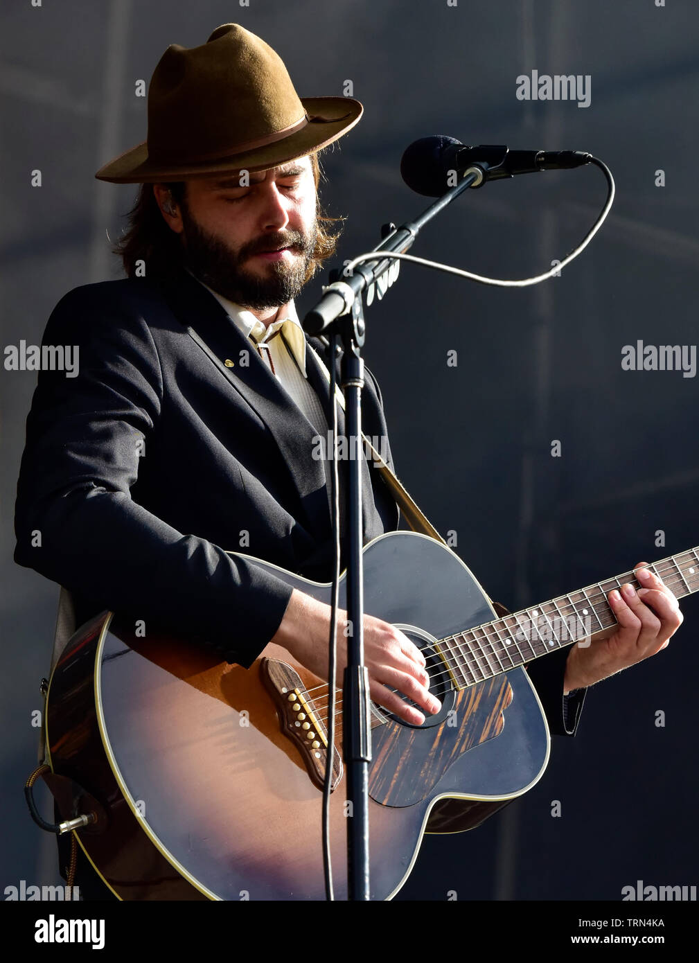 Lord Huron performing on stage at the BottleRock Festival 2019, Napa Valley,California. Stock Photo