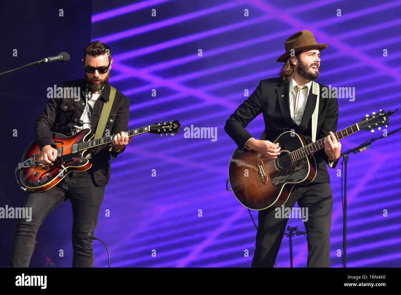 Lord Huron performing on stage at the BottleRock Festival 2019, Napa Valley, California. Stock Photo