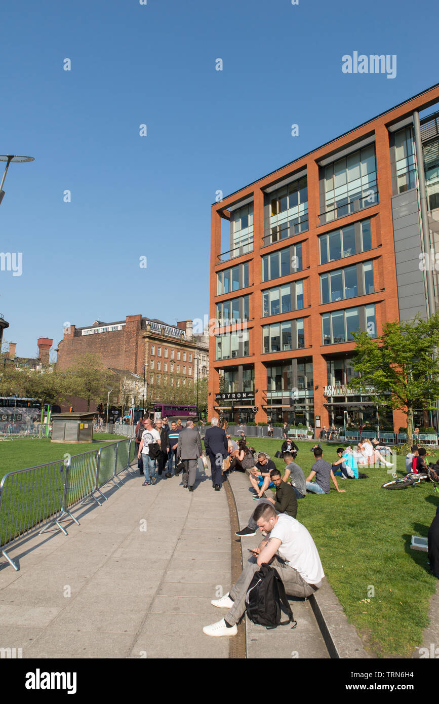 Newton street, Manchester, Great Britain. - Stock Image