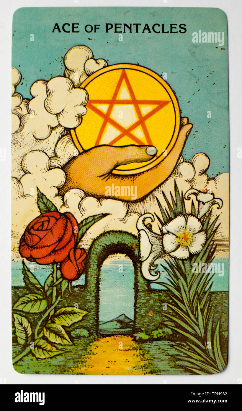 Ace Of Pentacles Stock Photos & Ace Of Pentacles Stock