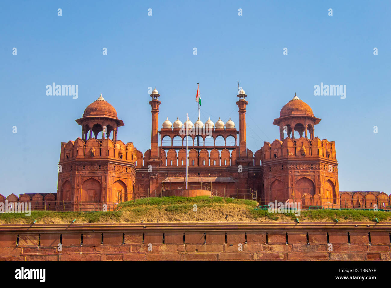 Red Fort (Lal Qila) in Delhi, India - Stock Image