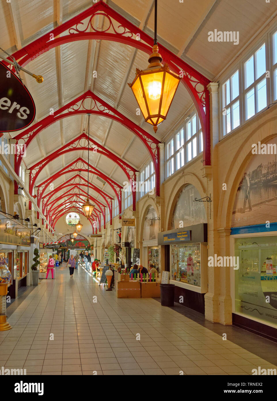INVERNESS CITY SCOTLAND CENTRAL CITY THE INTERIOR OF THE VICTORIAN COVERED MARKET - Stock Image