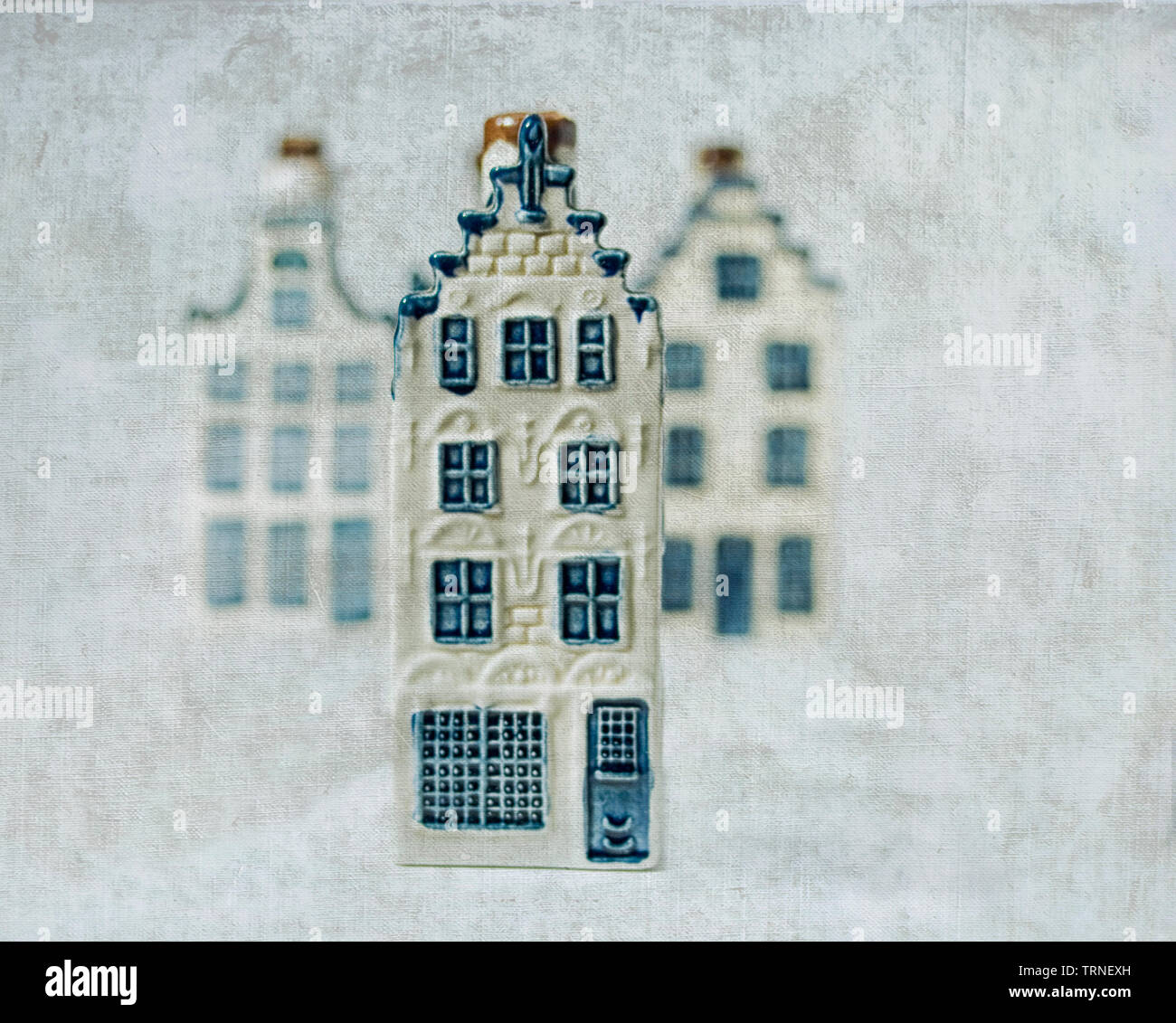 Dutch china house standing out - Stock Image