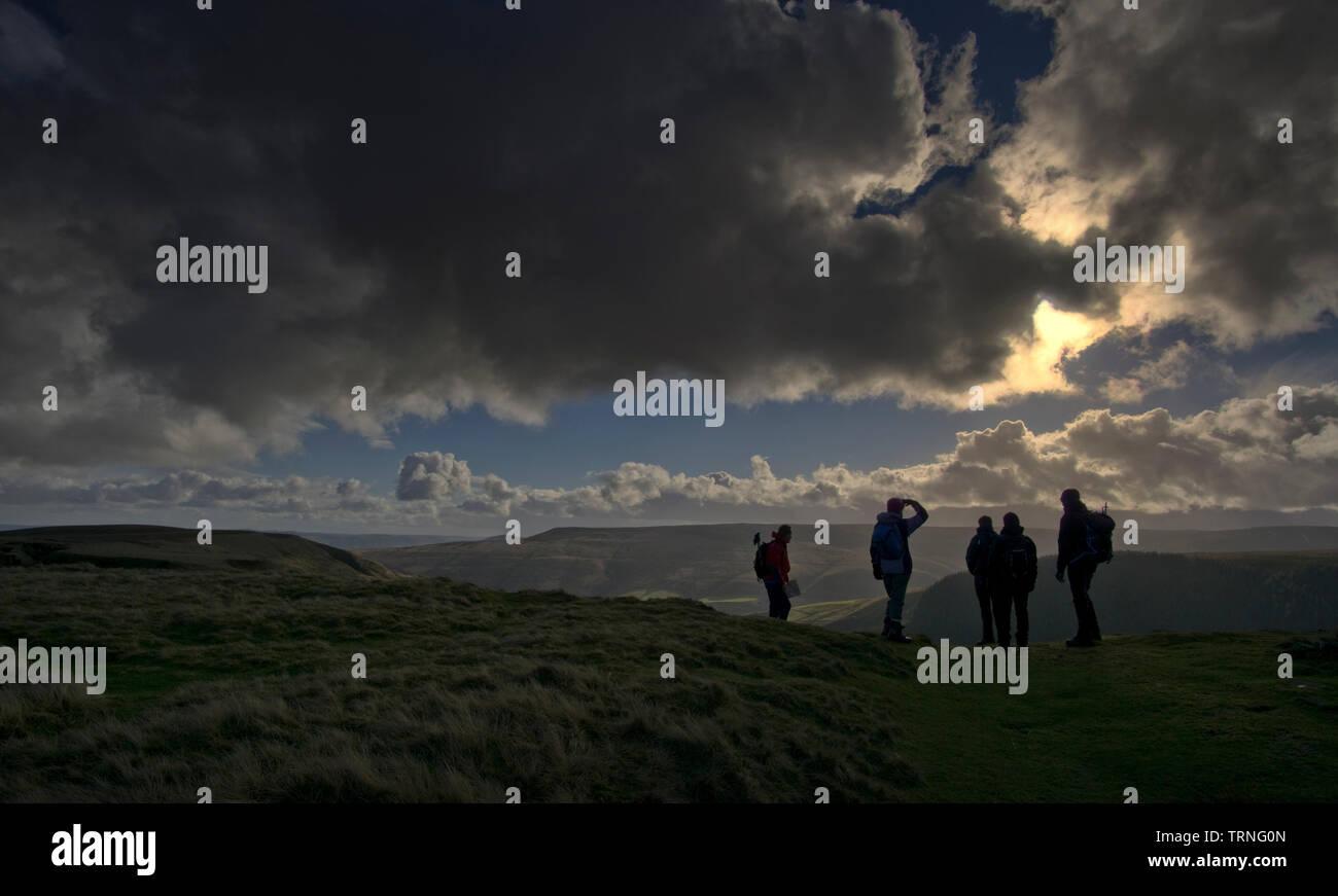 Big Skies at Alport Castles, Derbyshire, England - Stock Image