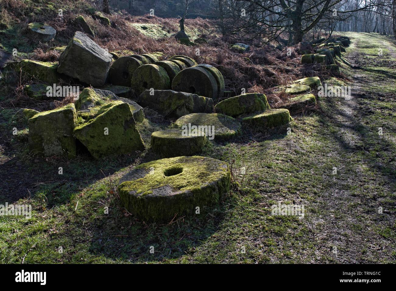 Bole Hill Quarry, Derbyshire, England (2) - Stock Image