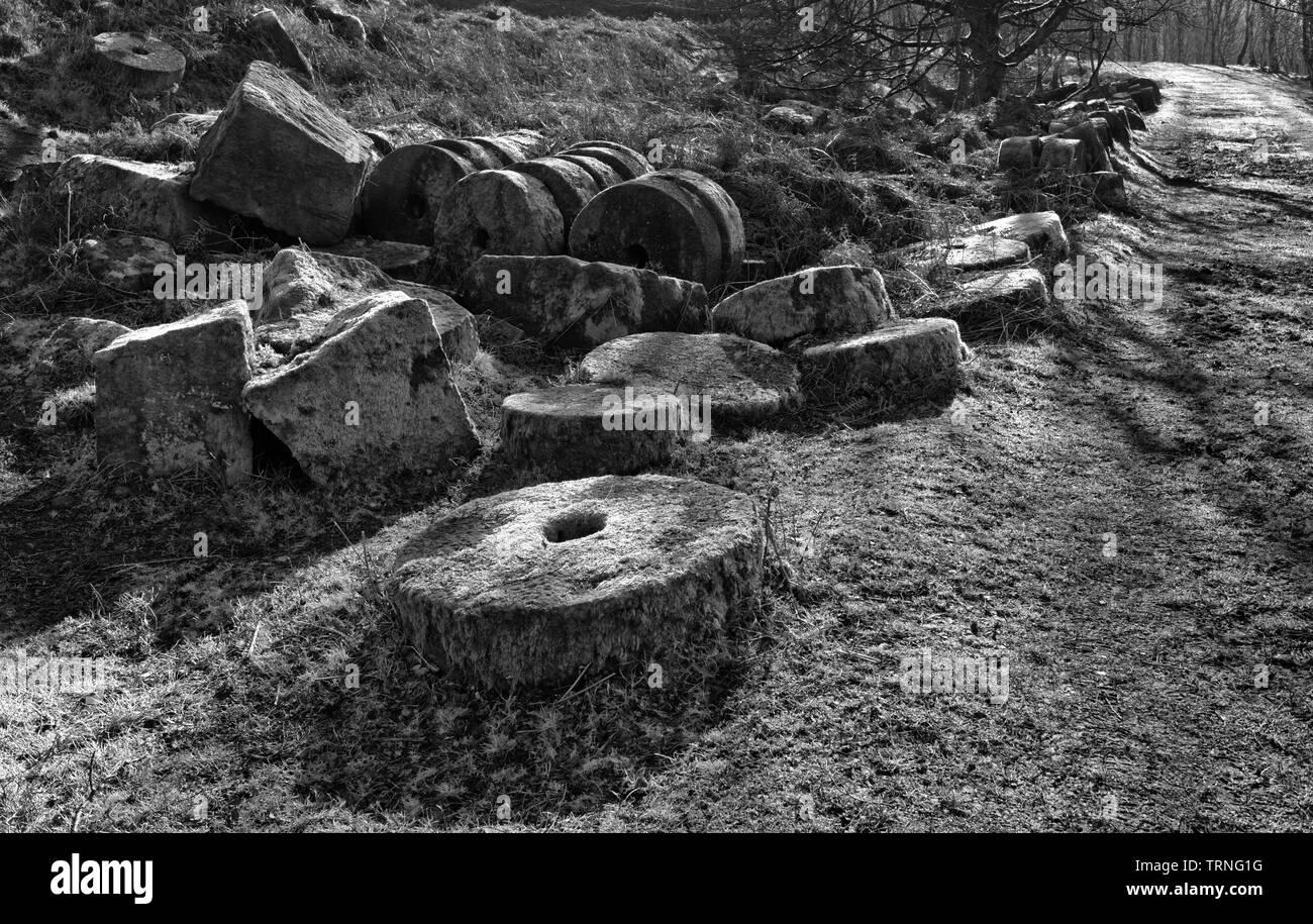Bole Hill Quarry, Derbyshire, England (3) - Stock Image