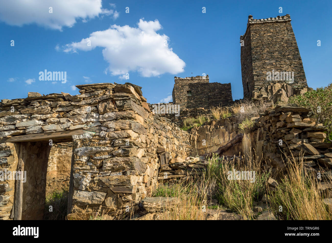 Castle of old Arabian civilization and history situated at Saudi Arabia - Stock Image