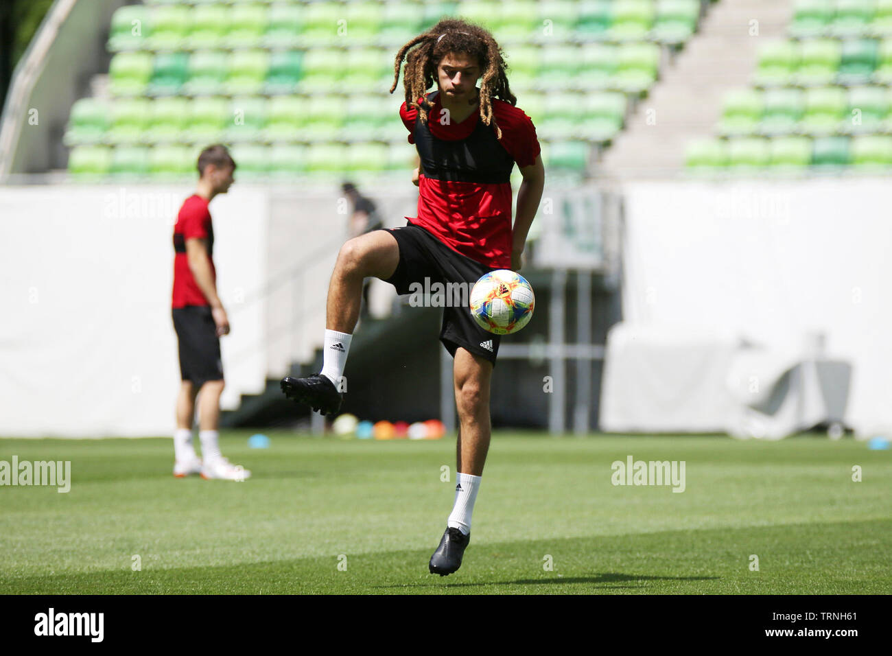 Budapest, Hungary  10th June, 2019  Ethan Ampadu of Wales in
