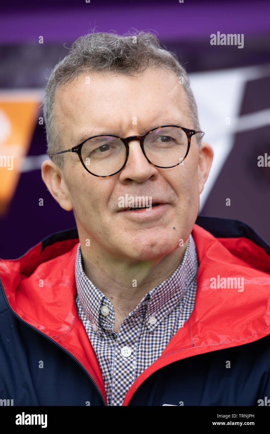 Tom Watson, Deputy Leader of the Labour party pictured at a cycling event in Birmingham. Tom is known for losing a tremendous of weight. - Stock Image