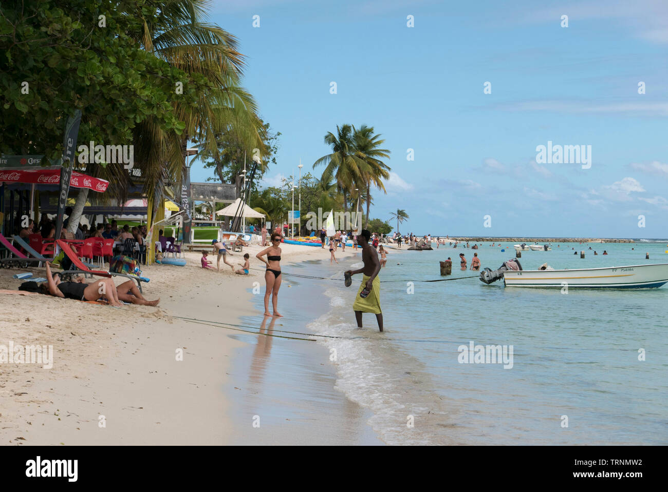 Saint Anne Beach in Guadeloupe Stock Photo