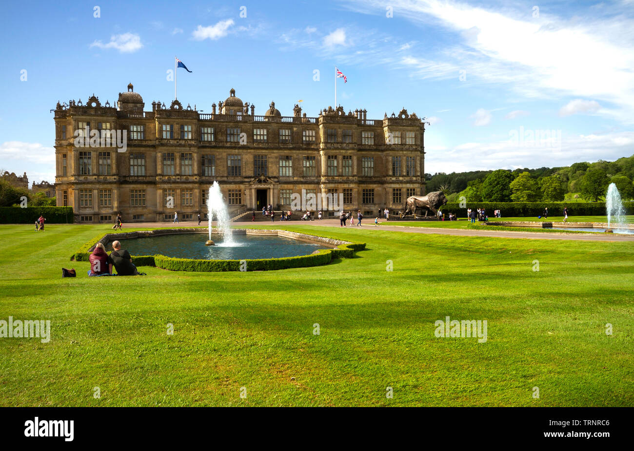 Longleat House, Wiltshire ,UK. Home of Longleat Safari park. Built in 1580. - Stock Image