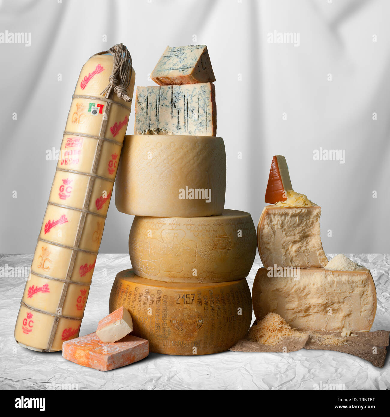 Imported Cheeses - Stock Image