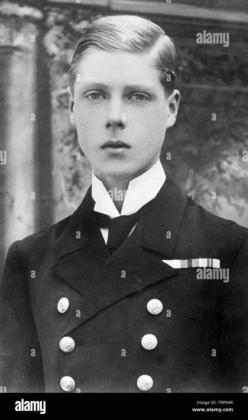 KING EDWARD VIII (1894-1972) as prince of Wales about 1912 - Stock Image