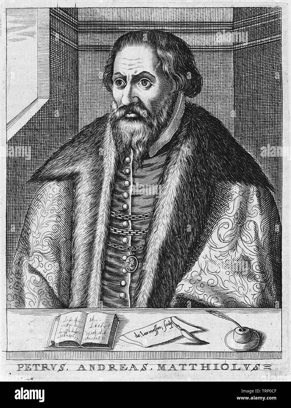 PIETRO MATTIOLI (1501-1577) Italian physician and naturalist - Stock Image