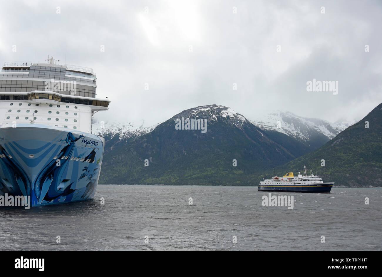 Alaska Ferry, Cruise Ship, Skagway, Lynn Canal, Southeast