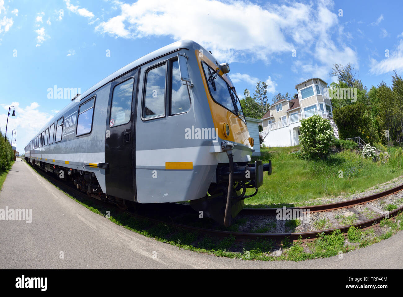 Train of Charlevoix, Québec - Stock Image
