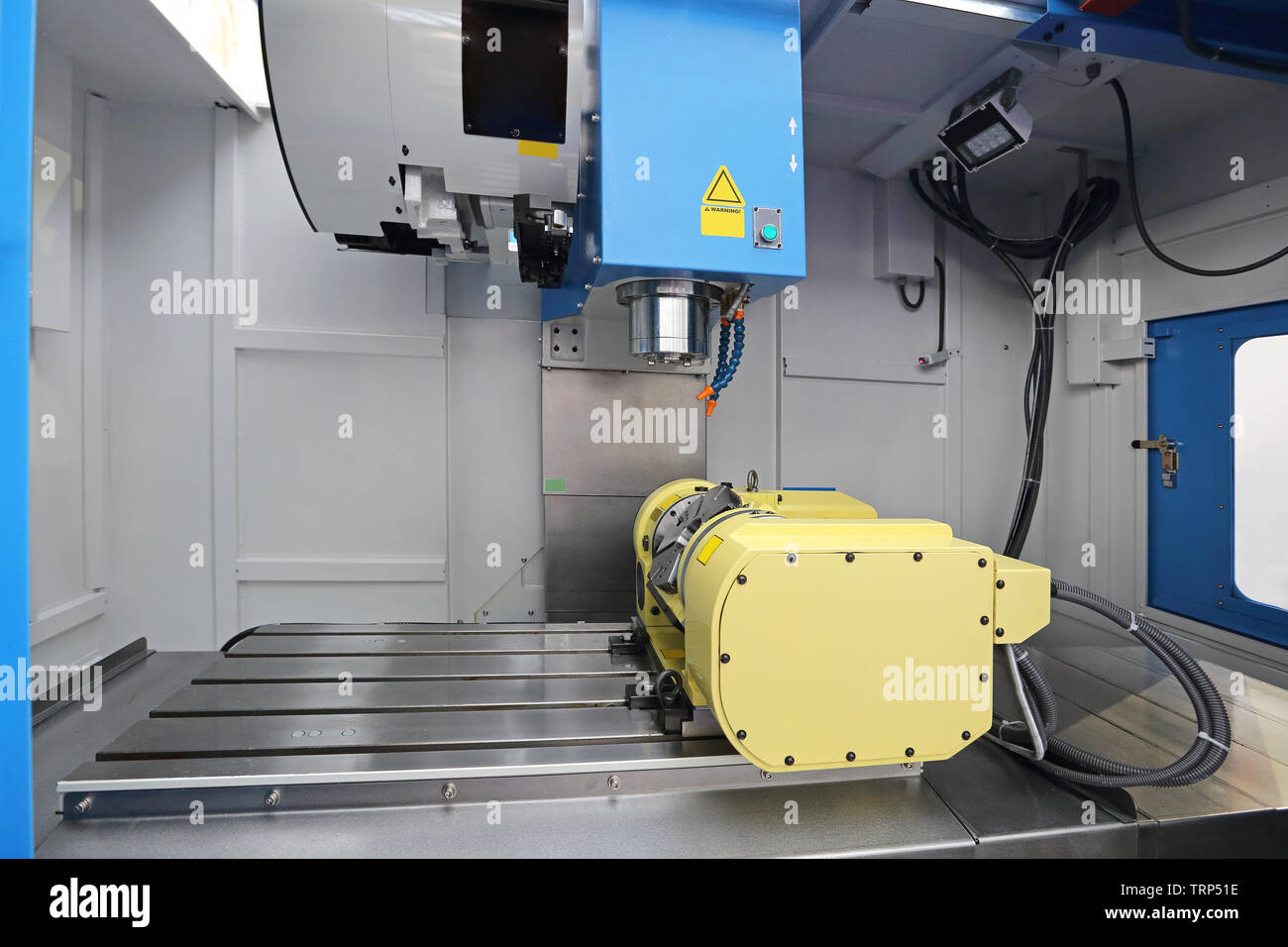 Computer Numerical Control Milling Machine Stock Photos & Computer