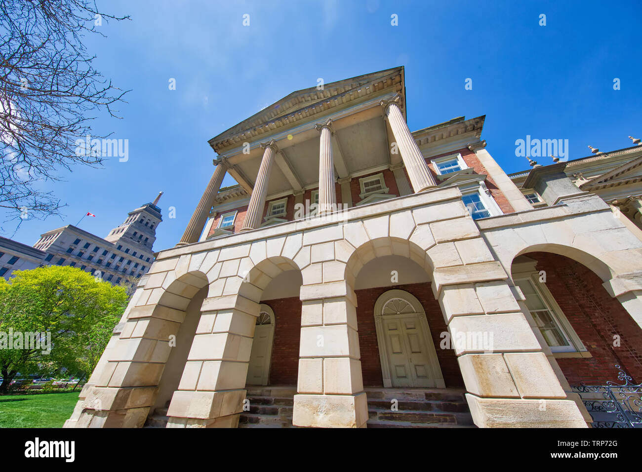 Osgoode Hall that houses the Ontario Court of Appeal, the Divisional Court of the Superior Court of Justice, the offices of the Law Society of Ontario - Stock Image