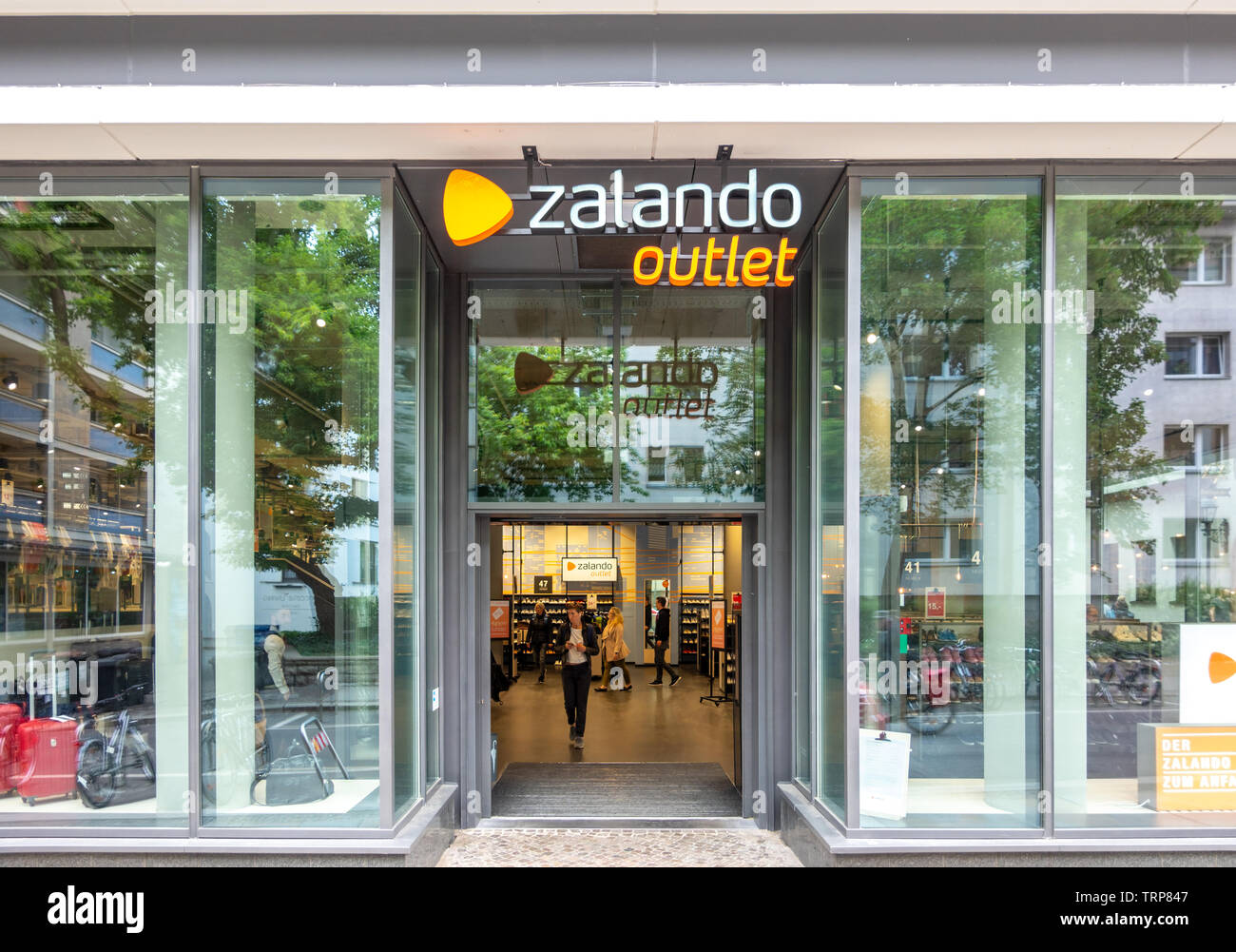 Zalando Outlet store in Leipzig Germany - Stock Image