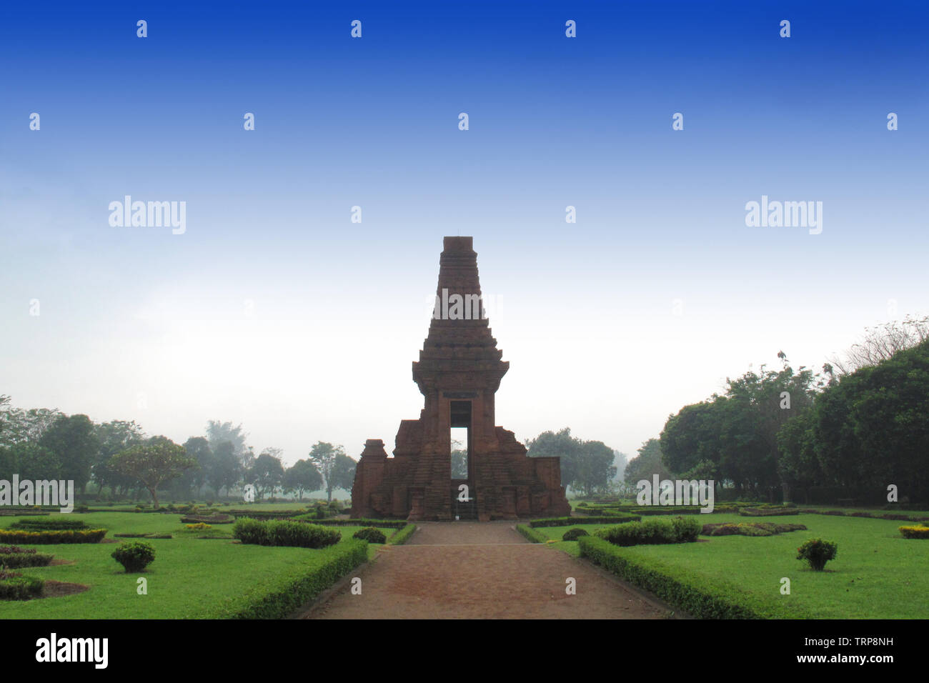 Bajangratu Temple in Mojokerto - Indonesia, one of the historical sites left by the Majapahit Kingdom - Stock Image