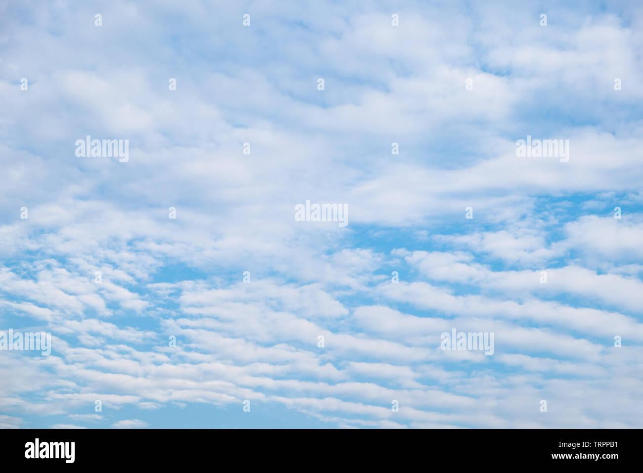 Cloud wave furrow streaky in blue sky - Stock Image